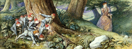 Wood Elves Watching a Lady, by Richard Doyle