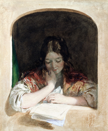 Girl Reading at a Window, by Charles Brocky