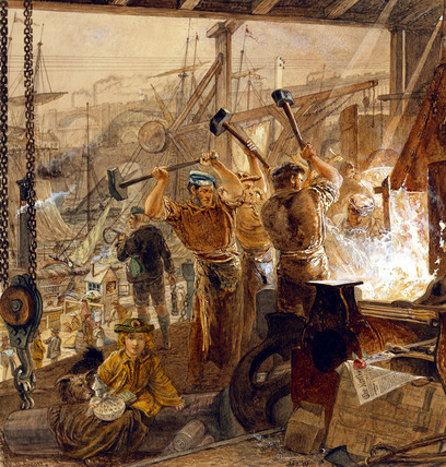 Iron and coal, by William Bell Scott