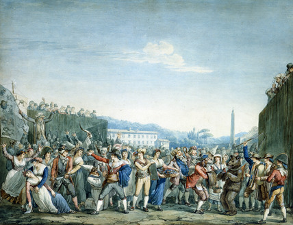 Carnival in Rome, by Bartolomeo Pinelli