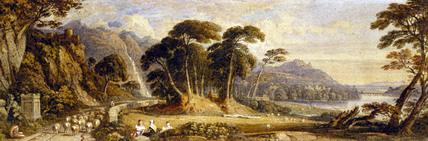 Landscape composition, by John Varley