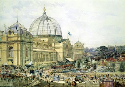 Opening of the 1862 London International Exhibition, by Edward Sherratt Cole