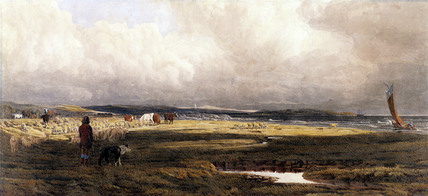 A Salt Marsh, by J.M.W. Turner