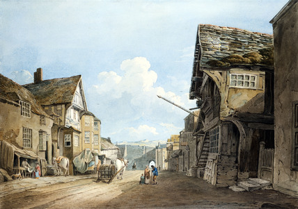 Looking down the High Street, Conway, by John Varley