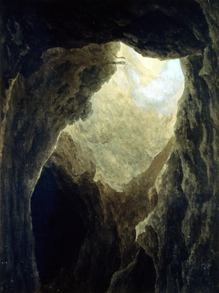 A Cavern in the Campagna, by John Robert Cozens