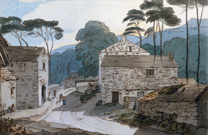 Part of Ambleside at the Head of Lake Windermere, by Francis Towne