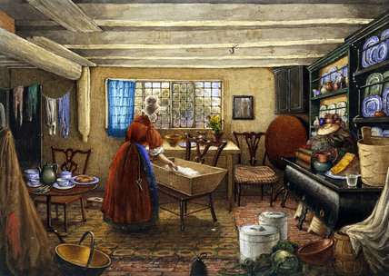 The Kitchen at Elmswell Manor House, by Mary Ellen Best