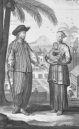 Book Plate depicting A Topas or Mardick with His Wife, by Johan Nieuhof