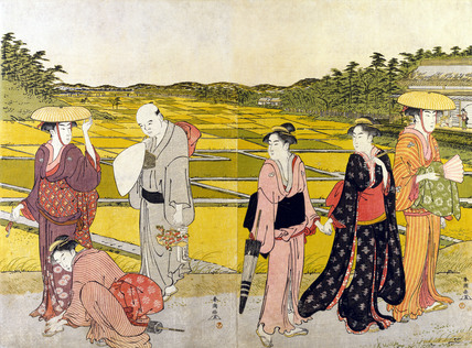 Figures in a Landscape, by Shundio