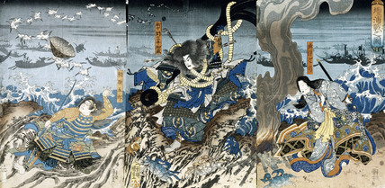 The Battle of Dan-No-Ura, by Utagawa Kuniyoshi