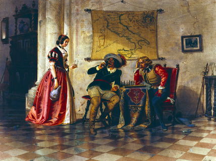 The Chess Players, by Carl Friedrich Heinrich Werner