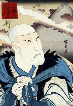 Actor as Priest Saigyottoshi, by Utagawa Kunimasa