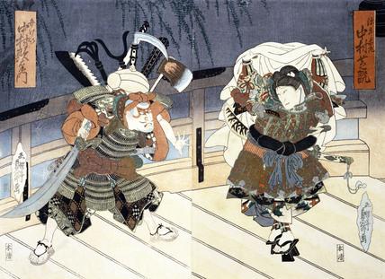 The Actors Nakamura Utaemon and Nakamura Shikan, by Utagawa Kunimasu
