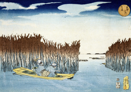 Seaweed gathers at Owori, by Utagawa Kuniyoshi