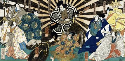 Scene from Oicho Sakae Kagekiyo, by Utagawa Kuniyoshi