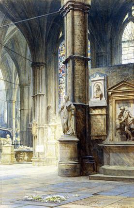 The Grave of Charles Dickens, by Sir Sammuel Luke Fildes