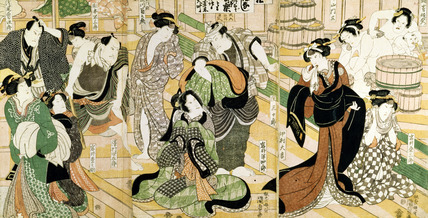 Scene of Women at a Bathhouse, by Utagawa Kunisada