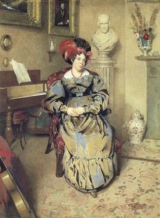 Portrait of a Lady, by Frederick Cruickshank