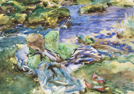 Turkish Woman by a Stream, by John Singer Sargent