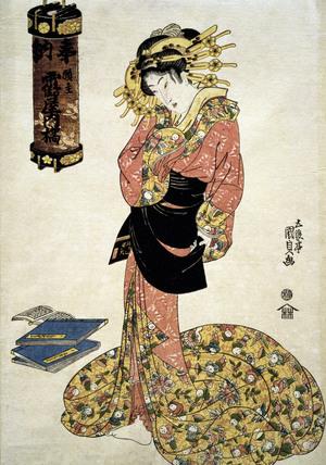 The Courtesan Tachibana of Tsuru-ya, by Utagawa Kunisada