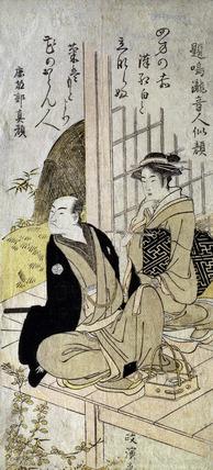 The Kyoka Poet Narutaki-no-Otondo, by Kitao Masanobu