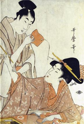 A Tanzaku Prayer-paper for the Star Festival, by Kitagawa Utamaro