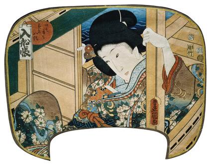 A Courtesan's Recordbook, by Utagawa Kunisada