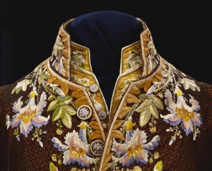 Coat, detail. France, 18th century