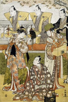 Iwai Hanshiro IV, Sawamura Sojuro III and Segawa Kikunojo III, by Katsukawa Shuncho