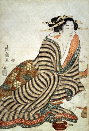 The Angry Drinker, by Torii Kiyomitsu II