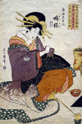 The Tea Ceremony, by Kitagawa Tsukimaro (active 1789-1829). Japan, 18th-19th century