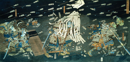 The Dreams of Kusunoki's Warriors in the Battle of Shijo-nawate, by Utagawa Kuniyoshi