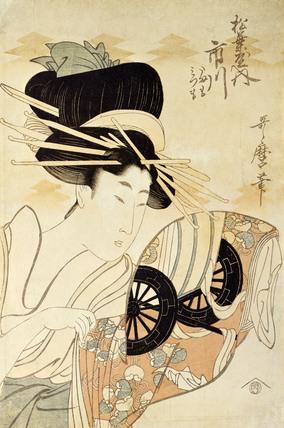 The Courtesan Ichikawa of The Matsubaya, by Kitagawa Utamaro