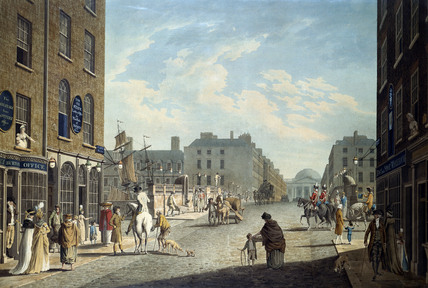 Capel Street, Dublin, by Thomas Malton. Dublin, Ireland, 1800