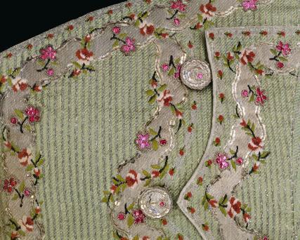 Waistcoat, detail. England, 18th century