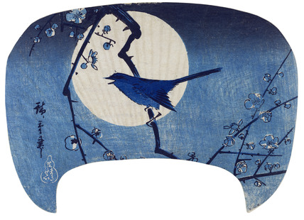 Bush warbler at midnight, by Utagawa Hiroshige I