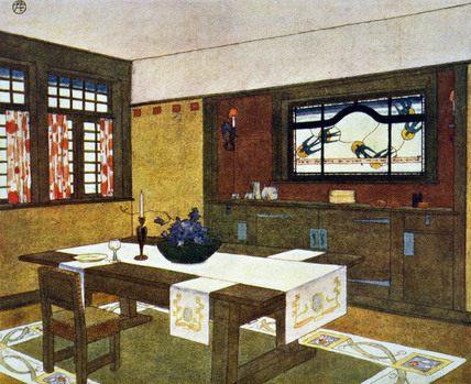 Interior of a Craftsman House, by Gustav Stickley