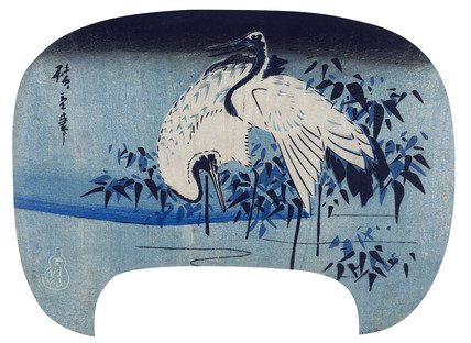 Cranes by the water's edge, by Utagawa Hiroshige I