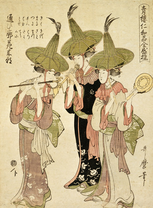 Female Musicians, by Kitagawa Utamaro