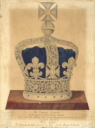 Drawing for the Imperial Crown of Great Britain
