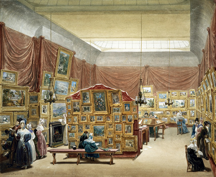 The Gallery of New Society of Painters in Watercolours, by George Scharf