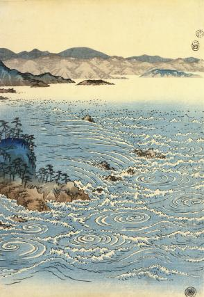 View of The Whirlpools at Naruto, by Hiroshige