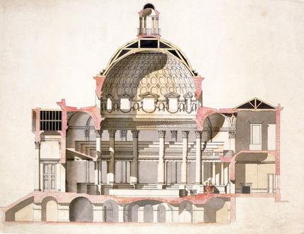 design of a section of marylebone parish church by sir william