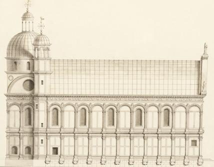 Drawing of the Chiesa sopra il Canale, by Antonio Visentini