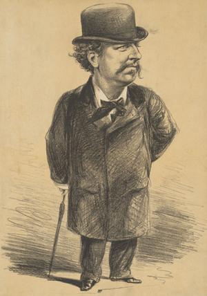 Caricature of Mr Charles Santley