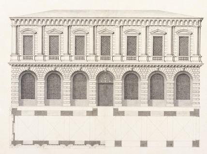 Drawing of the Le Prigioni, by Antonio Visentini