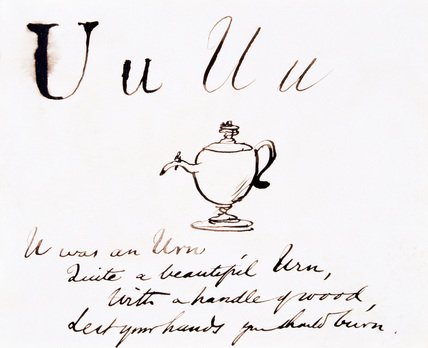 The letter U, by Edward Lear