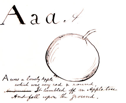 The letter A, by Edward Lear