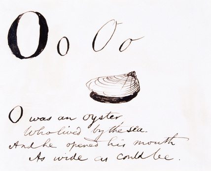 The letter O, by Edward Lear