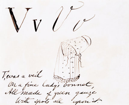 The letter V, by Edward Lear